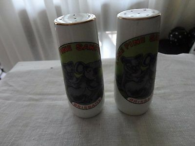 vintage souvenir salt & pepper shakers Lone Pine Sanctuary Brisbane MIJ