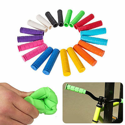 Soft Rubber BMX MTB Cycle Bicycle Scooter Bike Handlebar Grips Pairs Handle Bar