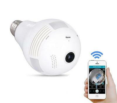 Wireless IP Wi-fi FishEye 960P 360 degree Mini Panoramic CCTV 3D VR SPY Camera