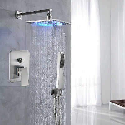 Stainless Steel Shower Panel Rain Massage System Faucet with Jets & Hand Shower