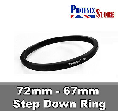 72mm-67mm 72-67 mm 72 to 67 Step Down Filter Ring Stepping Adapter Adaptor Black