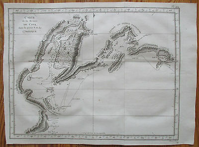 J. Cook Original Print 1st Edition Map Prince William Sound Alaska - 1774%
