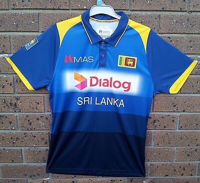 Sri Lankan Cricket T Shirt Dialog Mas Size:large,100% Polyester New Never Used