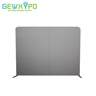 10ft*7.5ft Portable Straight Blank Wall,Aluminum Stand With White Fabric Banner
