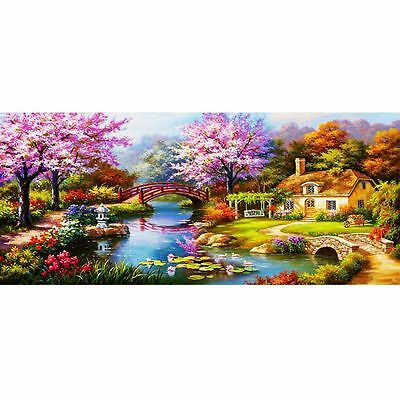 AU DIY 5D Diamond Embroidery Painting Dream Cottage Forest Path Home Decor Craft