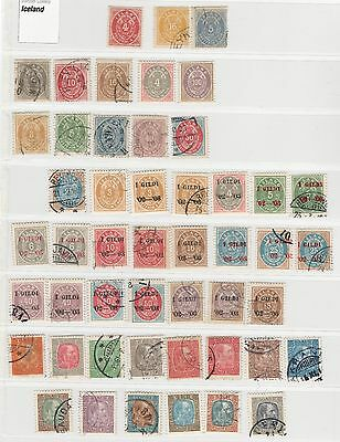 ICELAND from classic - COLLECTION mit PEAKS I stamped & unused