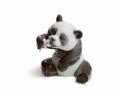 Lladro 1008358 A Cheerful Panda Bear Womens Handmade Porcelain Figure Figurine