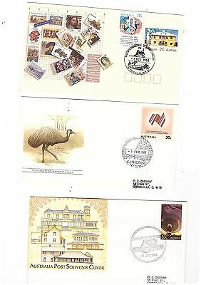 Australia 1985/94 Group of Covers  ( 3 covers )               lot no 9