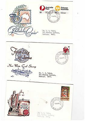 Australia 1974/75 Group of WCS FDCs            ( 3 Covers )