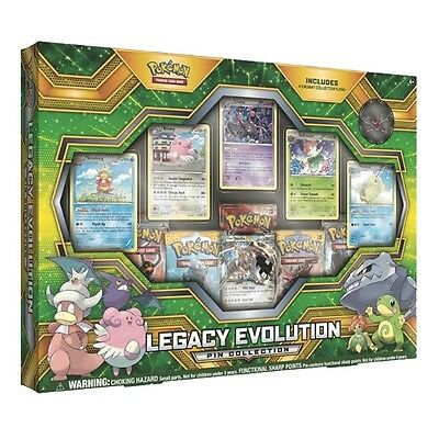 Sun & Moon Legacy Evolution Pin Collection Box - Pokemon Trading Card Game - UK