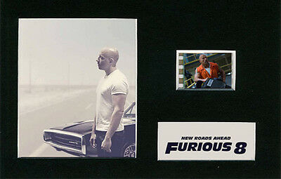 Fast and the Furious 8 -  Replica Mounted 35mm Film cells Display - Memorabilia