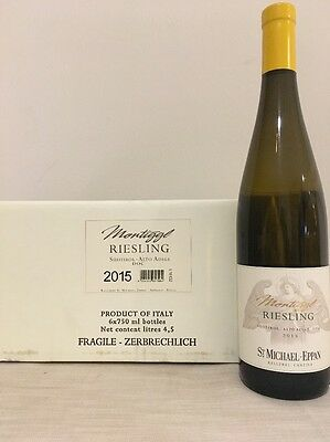 6 BOTT 75 CL Montiggl Riesling 2015 San Michele Appiano