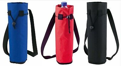New Bottle Cooler Bag Insulated With Strap Camping Picnic Festival Fizzy Drinks