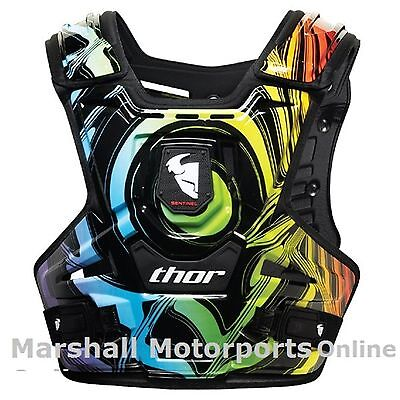 thor racing sentinel armour chest protection motocross mens adults ripple