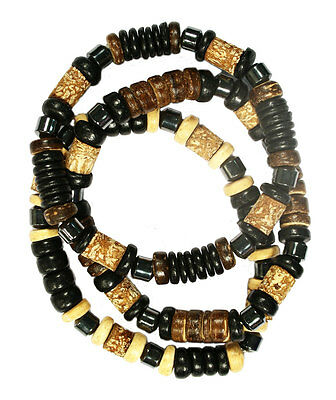 Bulk Lot X 12 Mens Bead Bracelet
