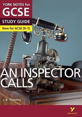 An Inspector Calls York Notes for GCSE (9-1) by John Scicluna Paperback Book New