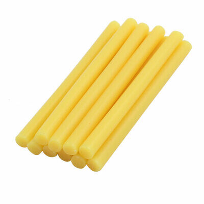 10pcs 7mmx100mm Economy Hot Melt Glue Sticks Yellow for DIY Small Craft Projects