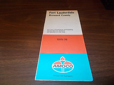 1975/76 Amoco Fort Lauderdale/Broward County Vintage Road Map