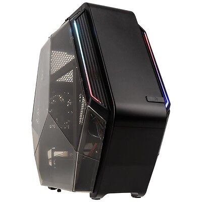 Kolink K6T Micro ATX Gaming Cube RGB LED Desktop PC Computer Gaming Case Black