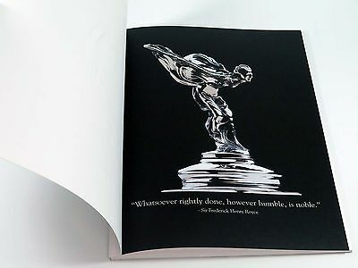 Rolls-Royce Book Brochure - Timeless Dedication to Perfection - 2001 MINT
