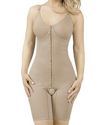 Womens Compression Bodysuit, Above Knee, With Bra, Size XL