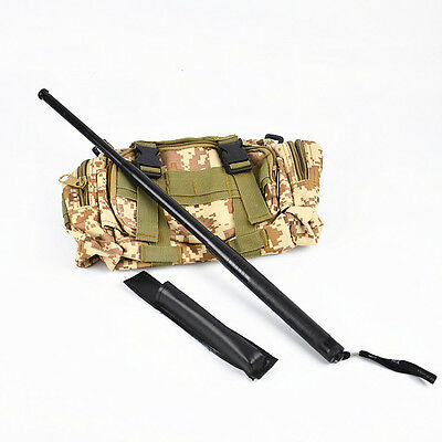 Portable Steel 3 Sections Retractable Telescopic Stick Protector Tool With Pouch