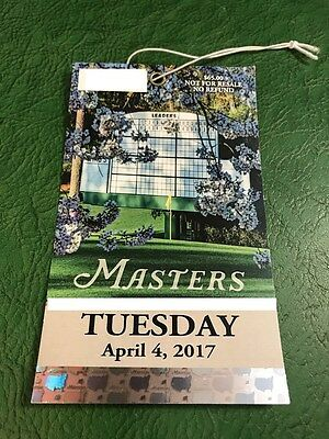 2017 Masters Badge Tuesday Practice Round Ticket Augusta National Souvenir