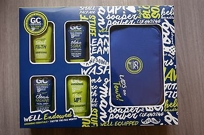 Grace Cole Cg Homme 5 Piece Well Endowed Grooming Essentials Gift Set Kit New!