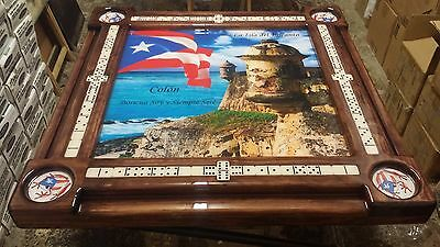 El Morro Garita Doble by Domino Tables by Art Personalized with Your Family Name