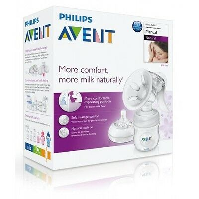 New Philips Avent SCF330/20 Manual Natural Breast Pump BPA FREE