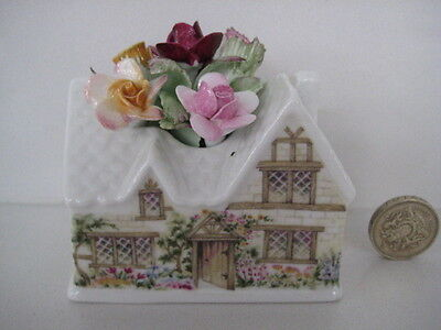 Rare Royal Albert England Old Country Roses Figural  Cottage Flower Cluster Posy