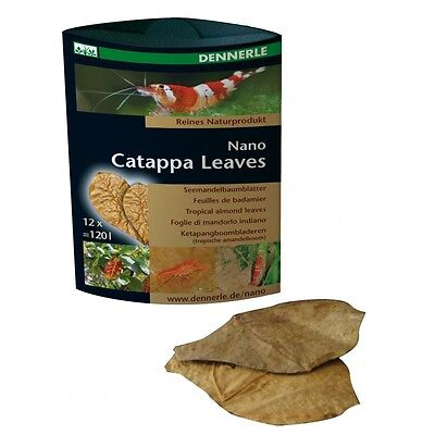 Dennerle Foglie Nano Catappa Leaves Cibo Mangime Gamberetti Food Shrimp