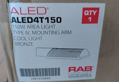 Rab Aled4T150 Led Area Lighting 150W Area Light, Type Iv, Mounting Arm Cool Ligh