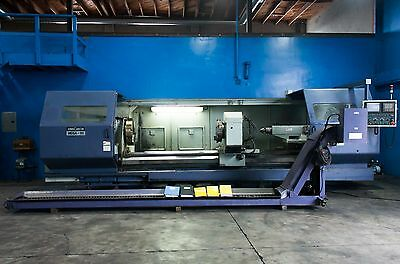 "38"" Swing x 165"" Center Hwacheon CNC Flat Bed Turning Center CNC Lathe (2003)"