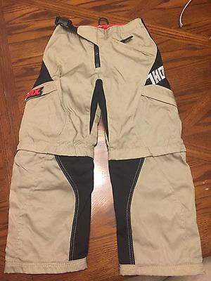 Thor Static Racing Motorcycle Pants, Zip off, Used, Child Or Youth Size 20