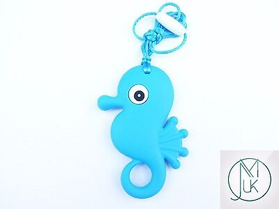 Silicone Baby Teething Necklace Pendant Seahorse Mum & Baby Jewellery 5 Colors