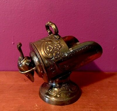 Vintage Silver Plated Sugar Bowl Scuttle w/ Scoop Tarnish Resistant Made Japan