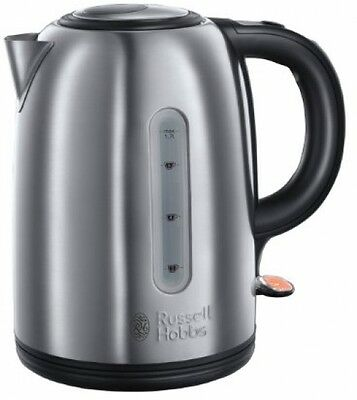 Russell Hobbs Brushed Stainless Steel Kettle, 1.7L, 3KW - Fast Boil