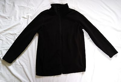 Old Navy Fleece Maternity Zip Up Jacket - Black - Size Large
