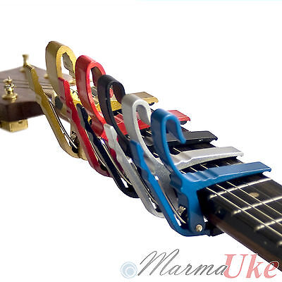 Guitar Capo Quick Change Hook Key Clamp for Electric Acoustic