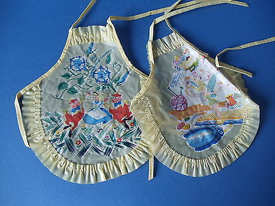 Vintage 1940-50s Nursery Rhyme Doll Apron Bib Alice Tinker Bell for Dy-Dee Dolls