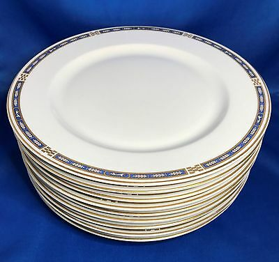 Syracuse China OPCO MISTIC Blue Dinner Plate Set of 9 & SYRACUSE CHINA OPCO MISTIC Blue Dinner Plate Set of 9 - $168.75 ...