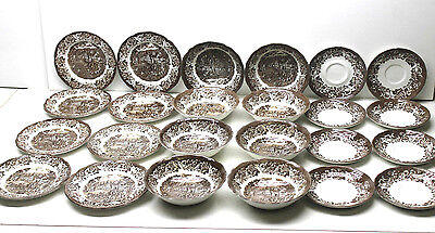 Set of 8 J&G Meakin Royal Staffordshire Ironstone Bowl+Dessert Plate+Tea Saucer