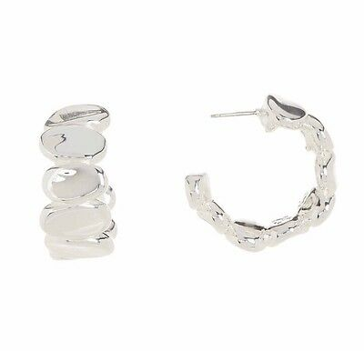 e45aa5dbde7c5 SIMON SEBBAG GORGEOUS Sterling Silver Flat Oval Hoop Earrings NWT NEW