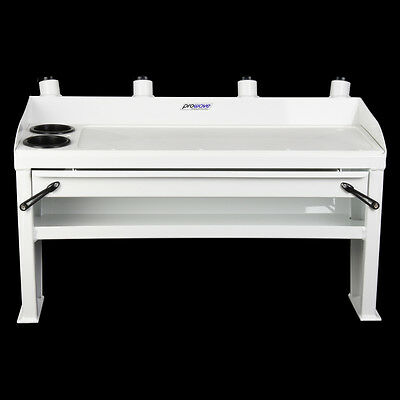Bait board with Drawer and Shelf - 700 wide - White