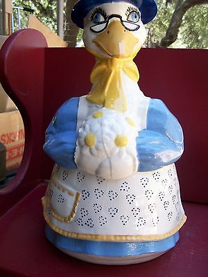 Vintage, Mother Goose Cookie Jar by Eagle Ceramics Great Condition...