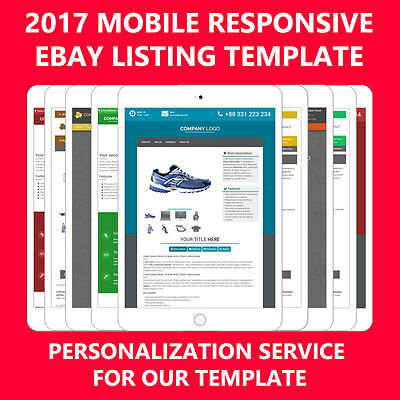 Template Ebay auction listing mobile - Personalization service for our templates