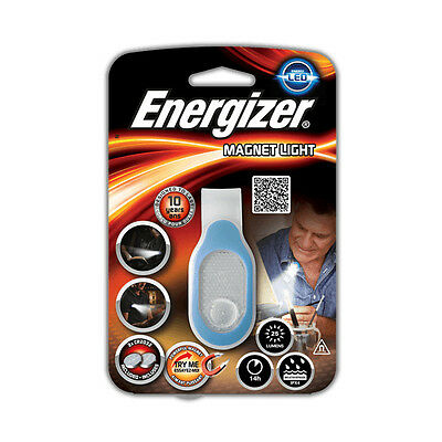 Energizer LED Magnetic Clip Light Hands Free Torch Booklight 2-batteries inc