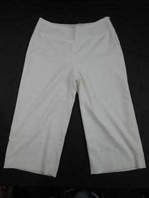 White House Black Market White/Cream Formal Cropped Dress Pants Sz 6 New
