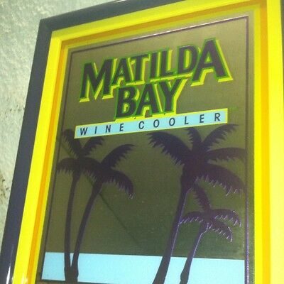 "Bar Mirror MATILDA BAY Wine Cooler Framed 19"" X 16"" (3) Available"